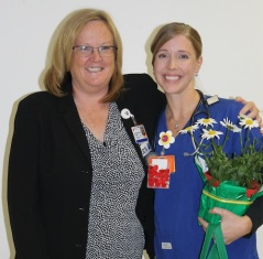 Jessica with her nurse manager, Sue Bachelder.