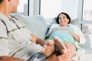 Pregnant Woman Foot Rub